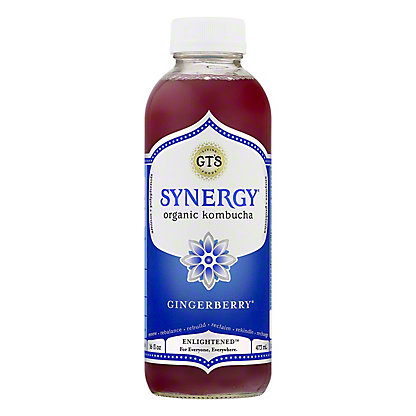GT's Enlightened Synergy Organic and Raw Gingerberry Kombucha, 16.2 oz