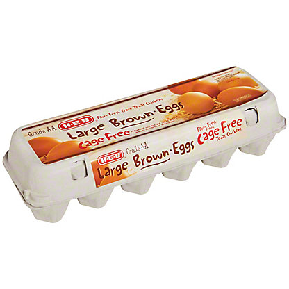 H-E-B Cage Free Large Brown Eggs, 12 ct