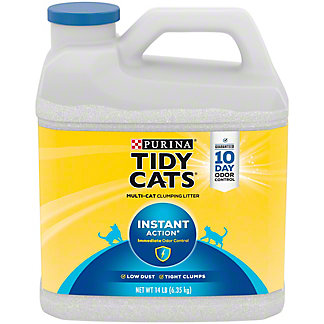 Tidy Cats Scoop Instant Action Cat Litter For Multiple Cats,14 LBS