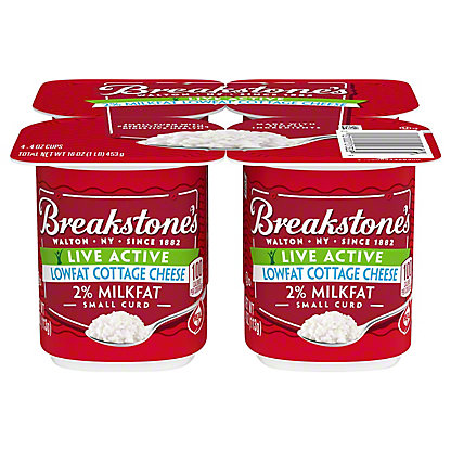Breakstone's LiveActive Lowfat 2% Milkfat Cottage Cheese,4 ct