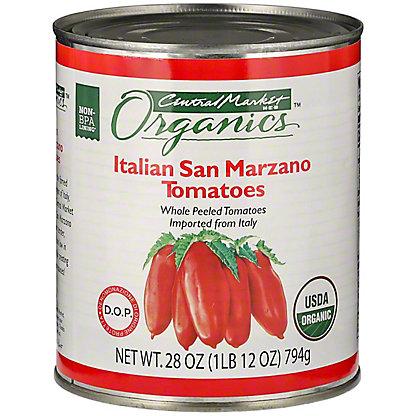 Central Market Organics Italian San Marzano Tomatoes,28 OZ