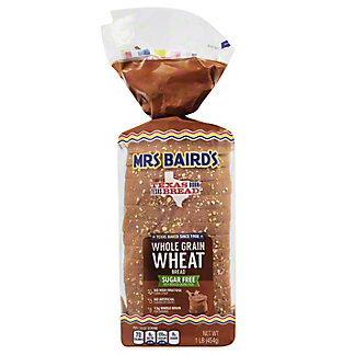 Mrs Baird's Sugar Free Whole Grain Wheat Bread,16 OZ