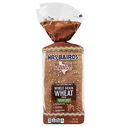 Mrs Baird's Sugar Free Whole Grain Wheat Bread,16 OZ