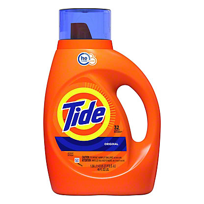 Tide Original Scent HE Turbo Clean Liquid Laundry Detergent 32 Loads, 50 oz