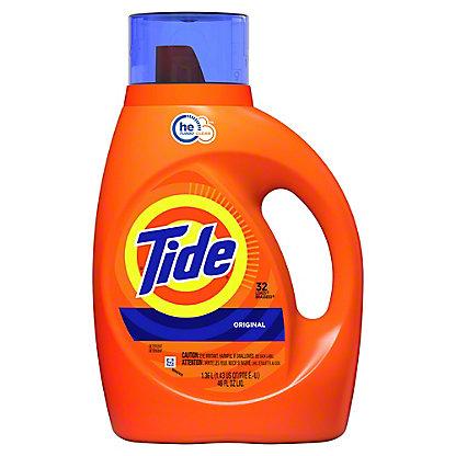 Tide Original Scent HE Turbo Clean Liquid Laundry Detergent 32 Loads, 50 oz