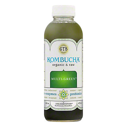 GT's Enlightened Organic Raw Multi-Green Kombucha, 16.2 oz