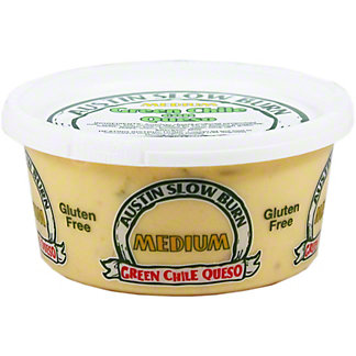 Austin Slow Burn Green Medium Chile Con Queso, 12 oz