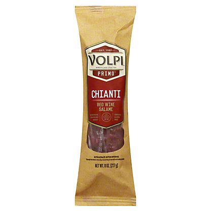 Volpi Chianti Red Wine Salami, 8 oz