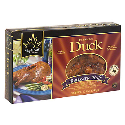 Maple Leaf Farms Fully Cooked Rotisserie Duck Half, 12 oz