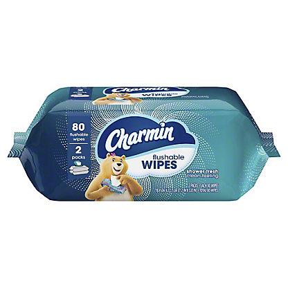 Charmin Freshmates Flushable Moist Wipes Refill, 80 ct