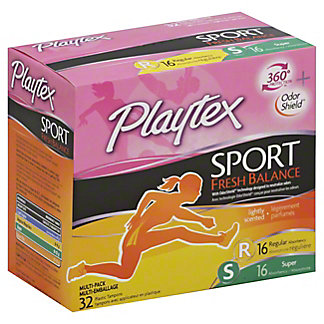 Playtex Sport Fresh Balance Scented Multi-Pack Tampons, 32 ct