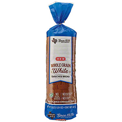 H-E-B Bake Shop Whole Grain White Bread,24 OZ