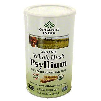 Organic India Organic Whole Husk Psyllium, 12 oz