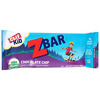 Clif Kid Organic Chocolate Chip Baked Whole Grain Z Bar,1.27 OZ