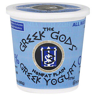 Greek Gods Greek Nonfat Plain Yogurt, 24 OZ
