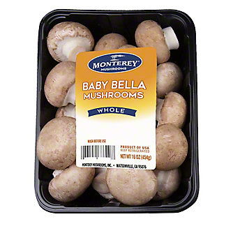 Monterey Baby Bella Mushrooms, 16 oz