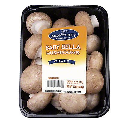 Monterey Baby Bella Mushrooms, 16 oz
