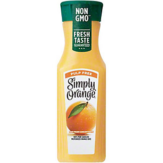 Simply Orange Pulp Free Orange Juice, 11.5 oz