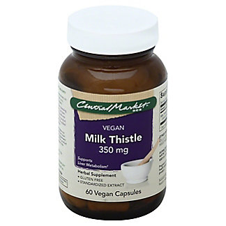 Central Market Milk Thistle 350 mg Vegan Capsules,60 CT