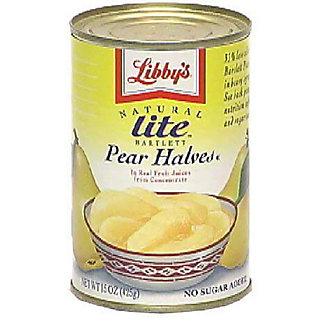 Libby's Natural Lite Bartlett Pear Halves No Sugar Added,15.00 oz