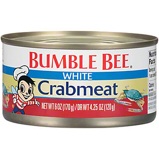 Bumble Bee Fancy White Crab meat, 6 oz