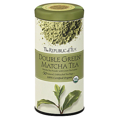 The Republic of Tea Double Green Matcha Tea Bags, 50 ct