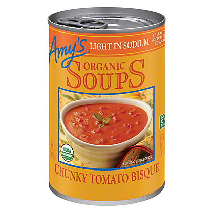 Amy's Organic Light in Sodium Chunky Tomato Bisque Soup, 14.5 oz
