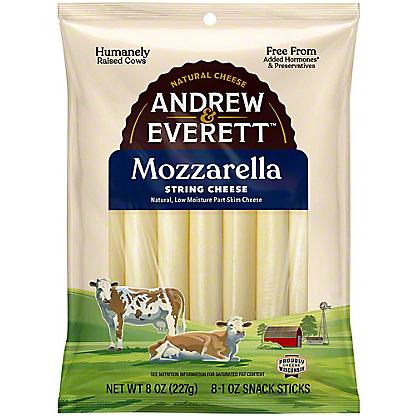 Andrew & Everett Mozzarella String Cheese,7 OZ