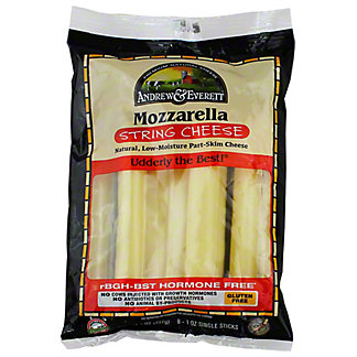 Andrew & Everett Mozzarella String Cheese,7 OZ