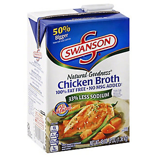 Swanson Natural Goodness Chicken Broth, 48 oz