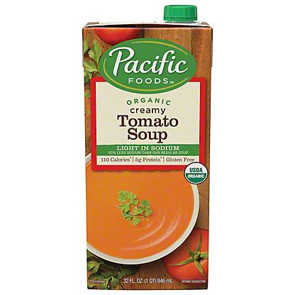 Pacific Foods Organic Light Sodium All Natural Creamy Tomato Soup,32.00 'oz'