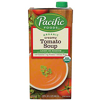 Pacific Foods Organic Light Sodium All Natural Creamy Tomato Soup,32.00 'oz'