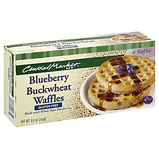 Central Market Blueberry Buckwheat Waffles, 6 ct