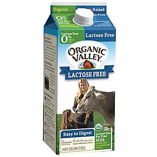 Organic Valley Organic Valley Skim Milk Lactose Free .5gal, 0.5 gl