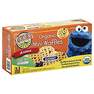 Earth's Best Organic Sesame Street Blueberry Mini Waffles, 32 ct