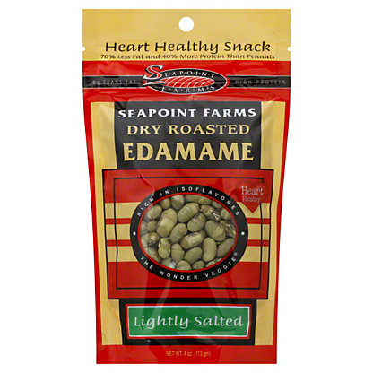 Seapoint Farms Dry Roasted Lightly Salted Edamame,4 oz