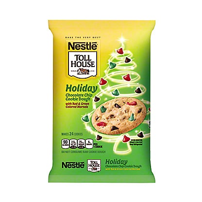 Nestle Toll House Christmas Swirled Chocolate Chip Cookie Dough, 24 ct