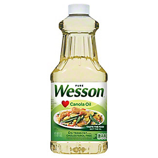 Wesson Canola Oil,48 OZ
