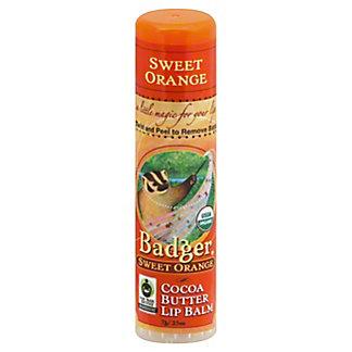 Badger Sweet Orange Cocoa Butter Lip Balm,.25 OZ