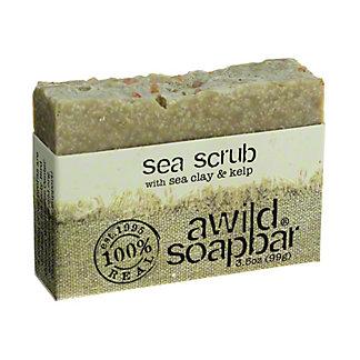A Wild Soap Bar Sea Scrub Bar Soap,3.5 OZ