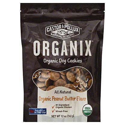 Castor & Pollux Organix Organic Dog Cookies, Peanut Butter Flavor, 12 oz
