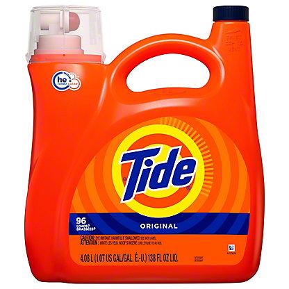 Tide Original Scent HE Turbo Clean Liquid Detergent 96 Loads, 150 oz