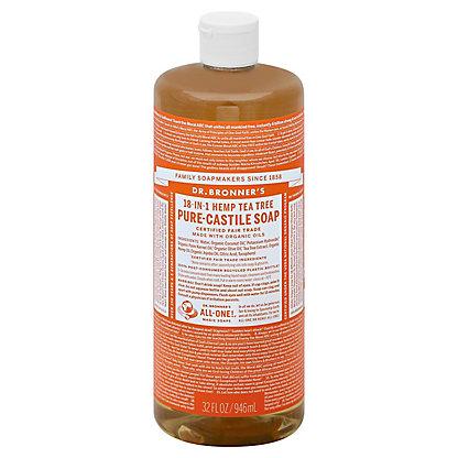 Dr. Bronner's 18-In-1 Hemp Tea Tree Pure-Castile Soap,32 OZ