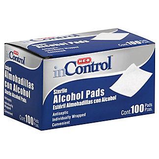 H-E-B InControl Sterile Alcohol Pads, 100 ct
