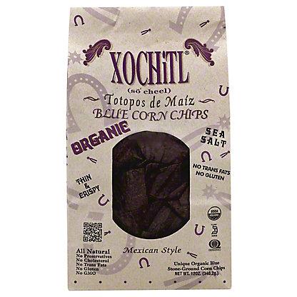 Xochitl Blue Mexican Style Corn Chips, 12 oz