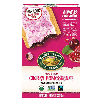Nature's Path Organic Toaster Pastry Cherry Pomegranate,6 CT