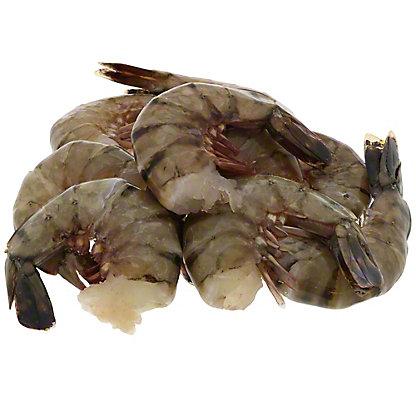 Frozen Raw Tiger Shrimp Shell-On, Farm Raised, U/8 ct