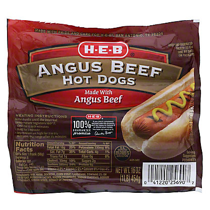 H-E-B Angus Beef Hot Dogs,8 CT