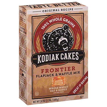 Kodiak Cakes Whole Wheat Oat & Honey Frontier Flapjack And Waffle Mix, 24 oz