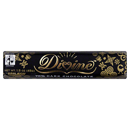 Divine 70% Dark Chocolate Snack Bar,1.5 OZ
